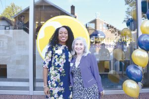"""We want to make sure that every student tastes excellence,"" said Executive Director Vasthi Acosta (right) with Amber Harlem Principal Sashemani Elliott."