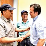 Espaillat met with Gov. Ricardo Rosselló during his visit.