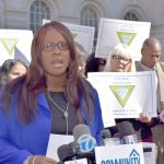 Councilmember Vanessa Gibson issued remarks.