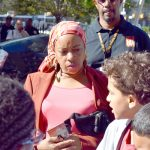Iesha Sekou, Chief Executive Officer of anti-violence activist group Street Corner Resources, was on hand.