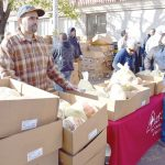 This is the 35thstraight year the organization has hosted the turkey giveaway.