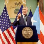 """New York City would be there every step of the way,"" said Mayor Bill de Blasio."