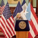 San Juan Mayor Carmen Yulin Cruz made her first visit to New York City since the hurricane.