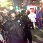 There was an increased police presence at the city's annual Halloween Parade.