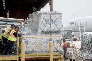 Supplies provided by the Beltrán Foundation were delivered to Puerto Rico. Photo: Office of Governor Cuomo