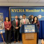 CityCouncilmember Ritchie Torres (center) and others have called for an independent monitor.