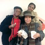 """""""This is my first time here,"""" said Randi Vanible (left) with friends. Photo: Desiree Johnson"""