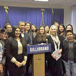 DREAMers met recently with Sen. Kirsten Gillibrand (center).