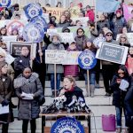 """""""[The] leadership must take action now,"""" said City Council Speaker Melissa Mark-Viverito (center)."""