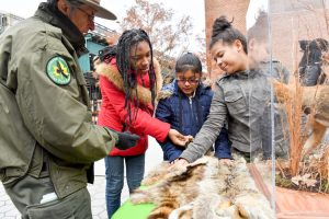 Guests visit with Urban Park Rangers.