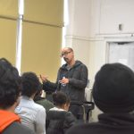 The Pulitzer Prize-winning author shared insights with students.