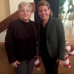 """""""Our main focus is to get the seniors active,"""" said Acacia's Chief of Staff Lymaris Albors (right) with María del Carmen Arroyo, Vice President for Administration."""