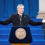 """""""I want us to be the fairest big city in America,"""" said de Blasio."""