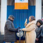 Public Advocate Letitia James took her oath.
