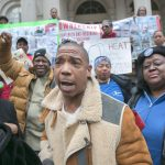 """""""The mayor, the governor, they should all be ashamed of themselves,"""" Ja Rule (center) said. Photo: William Alatriste 