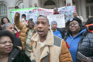 """The mayor, the governor, they should all be ashamed of themselves,"" Ja Rule (center) said. Photo: William Alatriste 