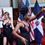 Student dancers performed.