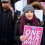 """We need one fair wage,"" said worker Marisa."