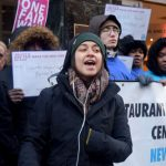 """Everyone deserves to live with dignity,"" said Basima Rid of the New York Worker Center Federation."