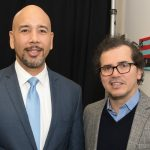 Borough President Rubén Díaz Jr. with John Leguizamo. Photo: Office of the Governor