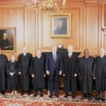 The Supreme Court Justices with President Donald Trump.