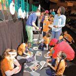 The children worked on crafts.