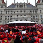 The organization has often held rallies in Albany.