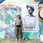 Tatyana Fazlalizadeh, who focuses on harassment, is the HCR's 2018 Artist in Residence. Photo: HCR
