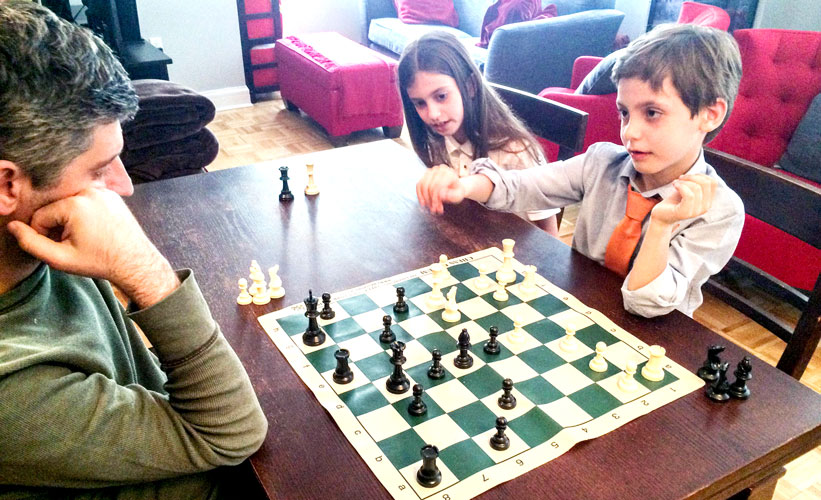 Chess instruction starting in kindergarten.
