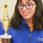 Sixth grader Nura Baalla took home the ninth-place trophy.