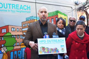 Bronx Borough President Rubén Díaz Jr. allocated $165,000 toward the outreach unit.