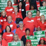 AARP volunteers have rallied in Albany.