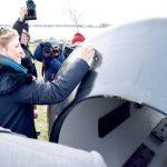 Deputy Mayor Alicia Glen signed a commemorative dock bumper.