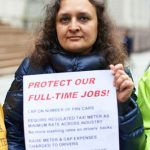 """""""We are sick and tired of burying our brothers,"""" said Taxi Workers Alliance's Bhairavi Desai."""