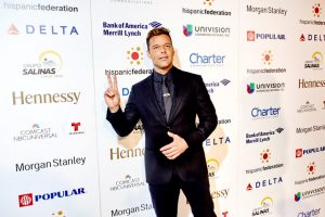 Ricky Martin was honored as the Humanitarian of the Year.