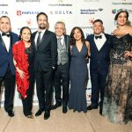 From left: Jose Calderón, President of the Hispanic Federation; Dr. Luz Towns-Miranda; Lin-Manuel Miranda; Luis Miranda; Luz Miranda-Crespo; Luis Crespo; and Nathalie Rayes, Board Chair.