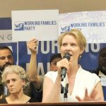 Challenger Cynthia Nixon has narrowed the lead.