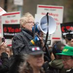 """""""Fair pay is an issue of both wage justice and educational justice,"""" said PSC President Barbara Bowen."""