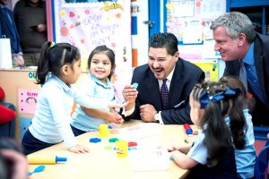 Schools Chancellor Richard Carranza made his first visit to the Bronx.