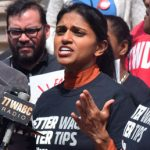 "ROC's Saru Jayaraman said the subminimum wage was linked to ""a legacy of slavery."""