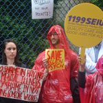 Las enfermeras se manifestaron en la ciudad de Nueva York.