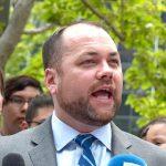 """""""No representa ninguna amenaza"""", dijo el presidente del Concejo Municipal, Corey Johnson."""
