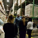 Food Bank held the luncheon at its 90,000 square-foot warehouse.  Photo: Darryl Smart