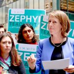 """I will be relentless, independent, ethical and swift,"" said AG candidate Zephyr Teachout."