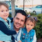 Pablo Villavicencio, here with his daughters, has been detained by ICE.