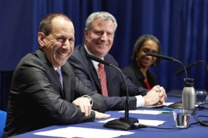 ACS Commissioner David Hansell (first from left) was appointed by Mayor Bill de Blasio last year.