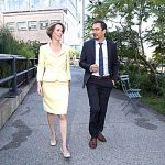 Teachout y Tim Wu en 2014.