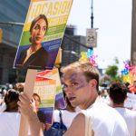 Apoyo en el Desfile del Orgullo del Bronx.