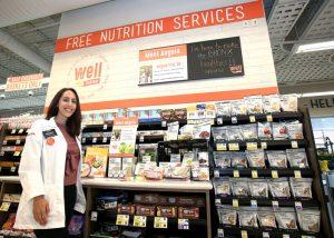 Angela Vita es una dietista registrada que está en el lugar.