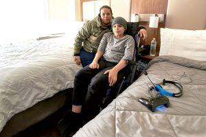 Martínez y su hijo Adrián llegaron a Nueva York en diciembre.